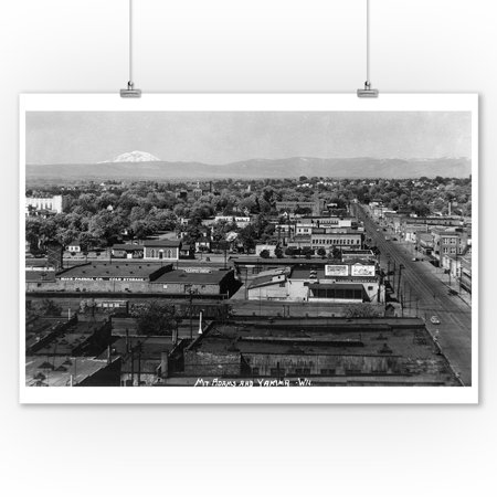 Party City Yakima (Yakima, Washington - Aerial View of the City (9x12 Art Print, Wall Decor Travel)