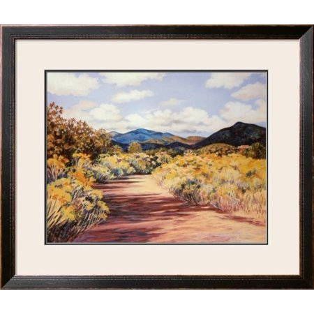 (Arroyo Chamiso Framed Art Print Wall Art  By Maggie Muchmore - 36x20)