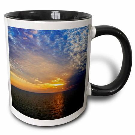 3dRose Sunset from Fort Myers Beach, Florida - US10 AJE0172 - Adam Jones - Two Tone Black Mug, 11-ounce