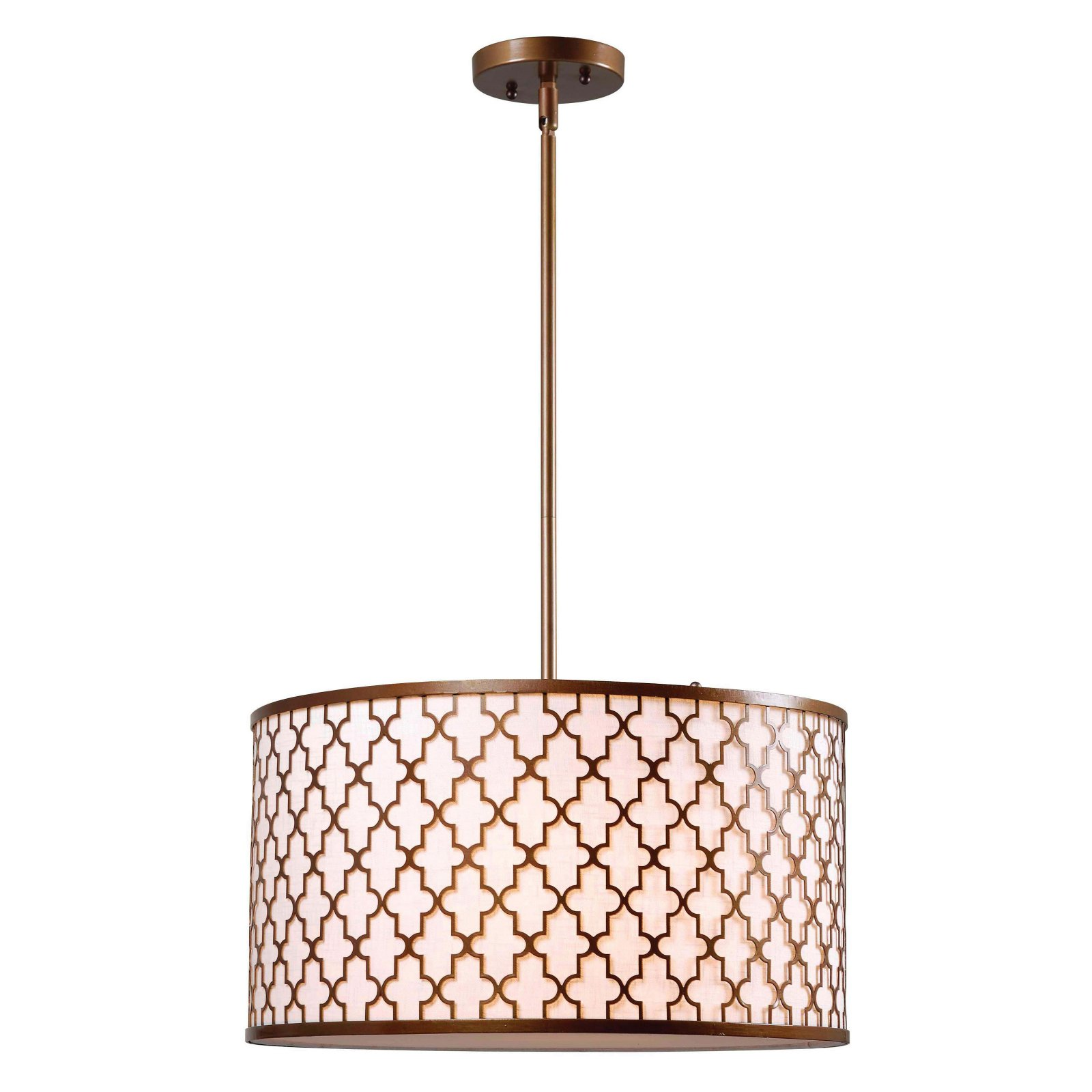Kenroy Home Tripoli 3-Light Pendant, Antique Gold