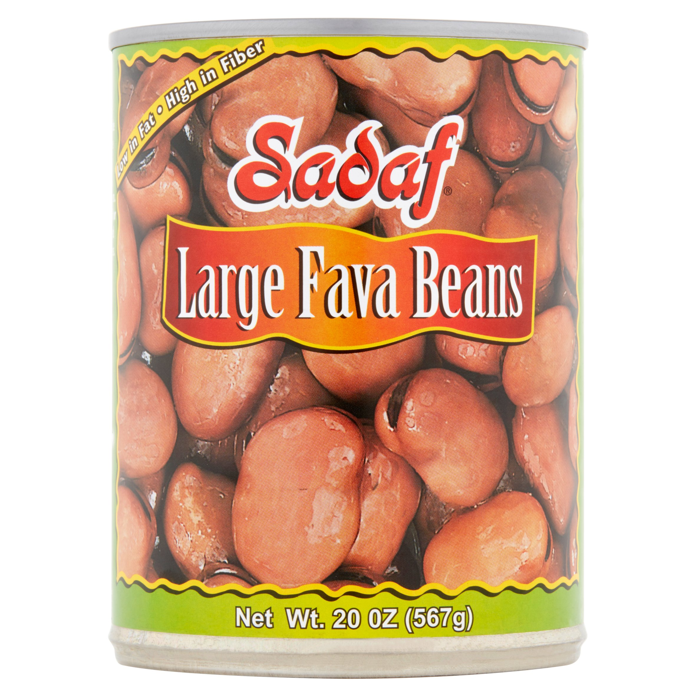 (6 Pack) Sadaf Large Fava Beans, 20 Oz