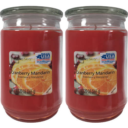 Mainstays 2-Pack Scented Candles, Cranberry Mandarin, 20 oz by Candle-lite