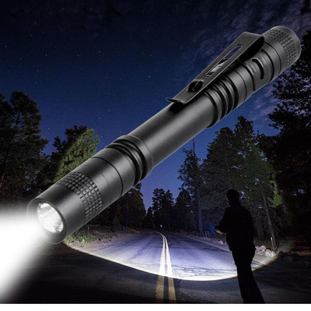 5-Pack LED Mini Flashlight Torch Portable Flashlight Pocket Outdoor Camping Penlight Lighting Lamp Light AAA