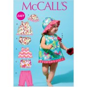 McCall's Pattern Infants' Tops, Skirt, Pants, Panties and Hat, All Sizes