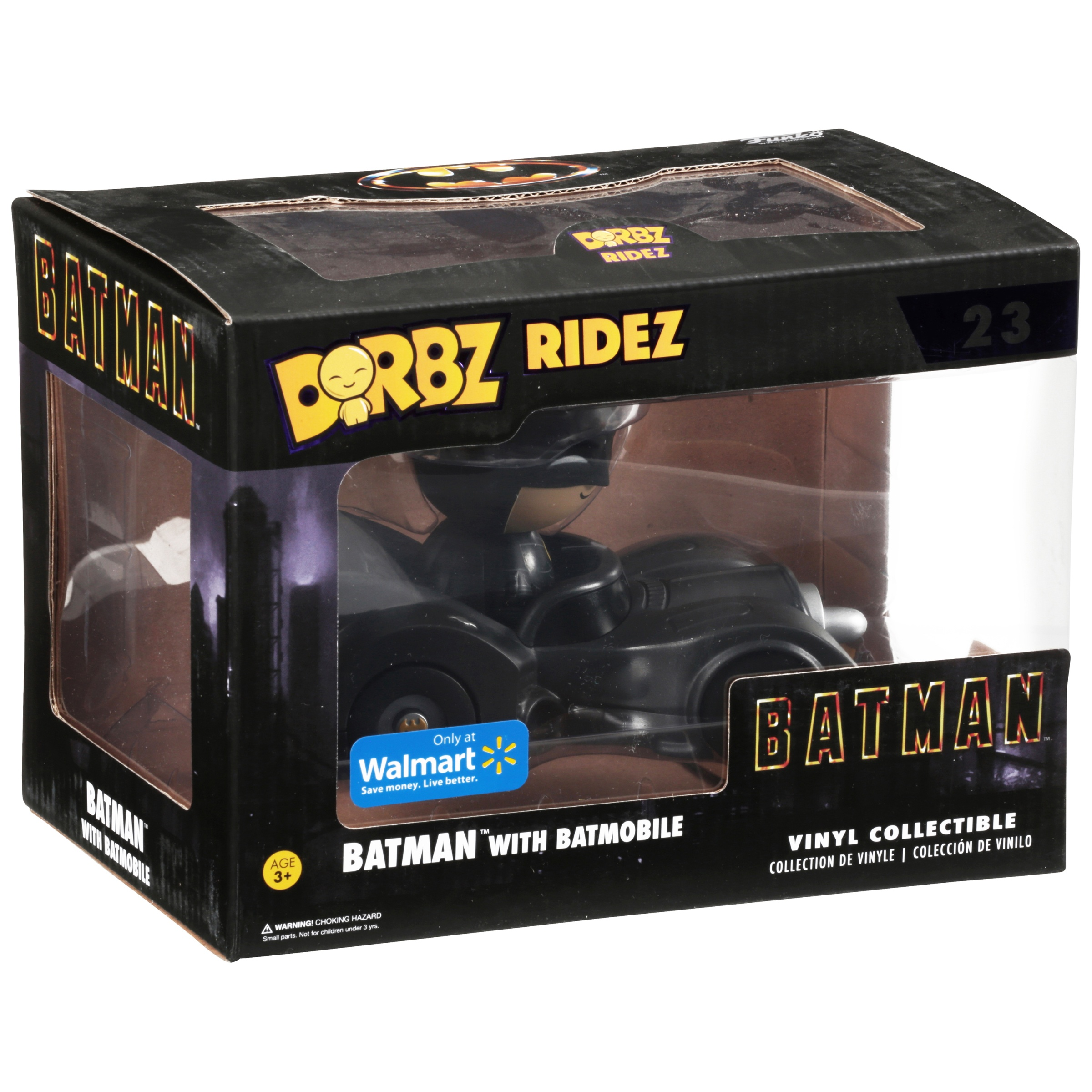 Funko Dorbz Ridez: DC Heroes, Batman with Batmobile Walmart Exclusive