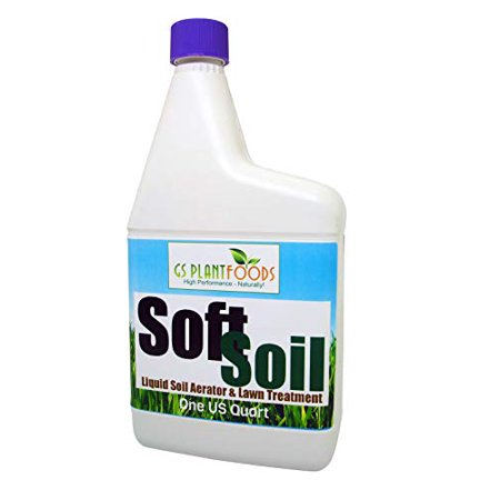 SOFTSOIL Liquid Soil Aerator & Lawn Treatment to fix compacted soils, Improve Drainage and Root Growth with Non-Mechanical Liquid Application.