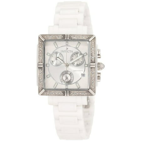 dd599ee4a Invicta - Women's 0719 Ceramic Chronograph Diamond Accented White Ceramic  Watch - Walmart.com