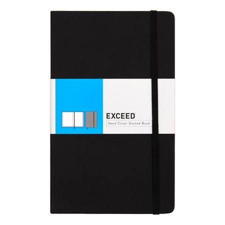 Exceed Dotted Classic Notebook, Black, Medium, 5.0