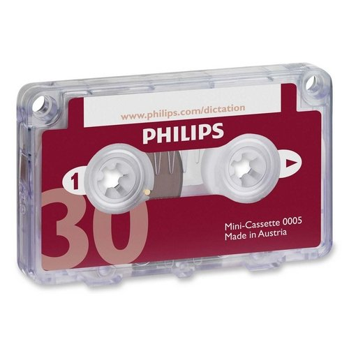 Philips Speech Dictation Minicassette With File Clip - 1 X 30 Minute (LFH000560)