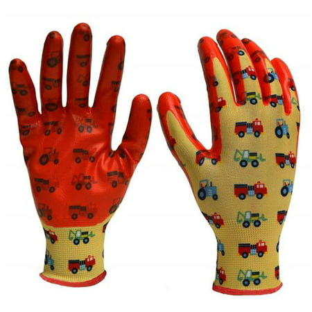 Girls In Latex (Big Time Products 242586 Digz Youth Girls Nitrile Dipped Garden Glove with Latex Free Nitrile)