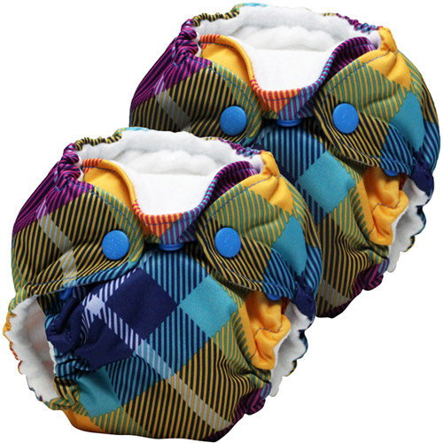 Kanga Care Lil Joey All in One Preppy Newborn Cloth Diaper, 2 count