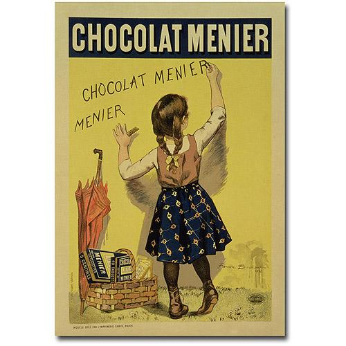 """Trademark Art """"Menier Chocolate, 1893"""" Canvas Wall Art by Firmin Bouisset"""