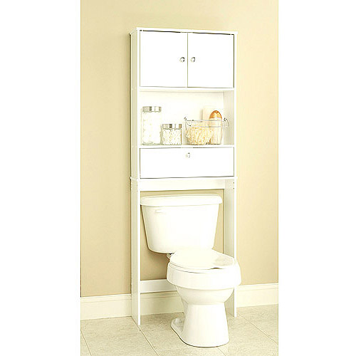 space saver cabinets for bathroom white spacesaver with cabinet and drop door walmart 26497