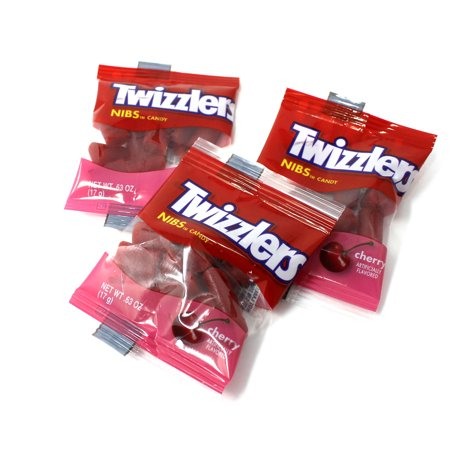 Twizzlers Cherry Nibs Candy Snack Size 0.63 Ounce Pouch, 5 pounds - Halloween Twizzlers Calories
