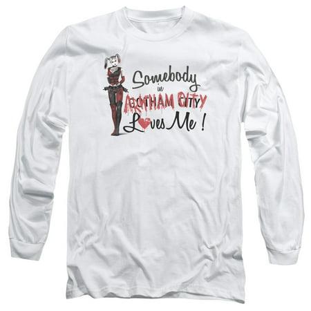 Batman Arkham City DC Comics Harley Quinn Somebody Loves Me Adult L-Sleeve - Harley Quinn Boots Arkham City