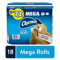 Charmin Ultra Soft Toilet Paper, 18 Mega Rolls, 264 Sheets per Roll