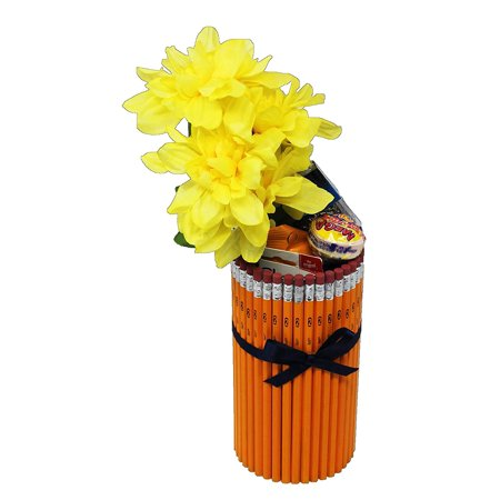 Teacher Appreciation Gift Idea in Handmade Pencil Vase | Great for PTA Auctions | Teacher Appreciation Week ](Chinese Auction Basket Ideas)