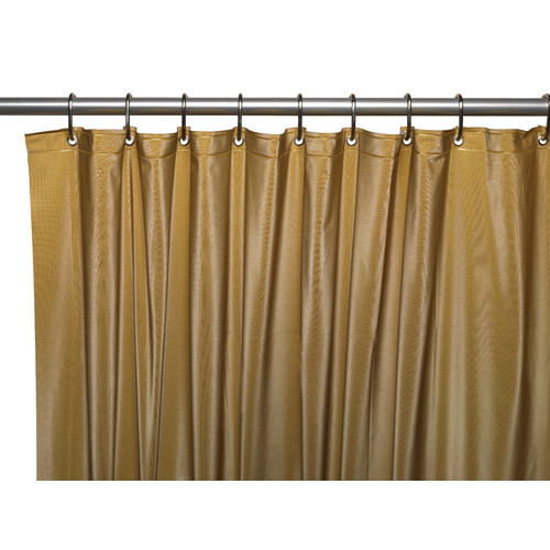 Carnation Home Fashions Vinyl Hotel Shower Curtain Liner