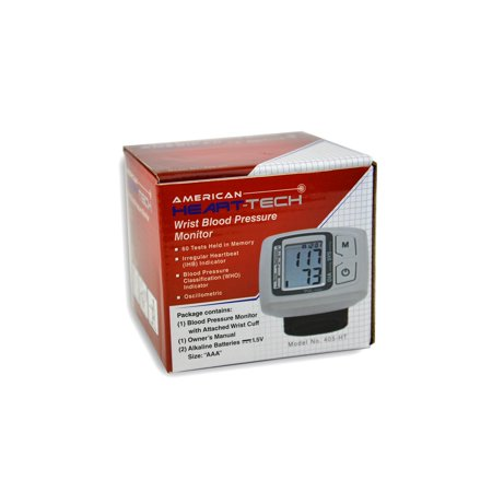 American Heart Tech Non Speaking Wrist Blood Pressure Monitor
