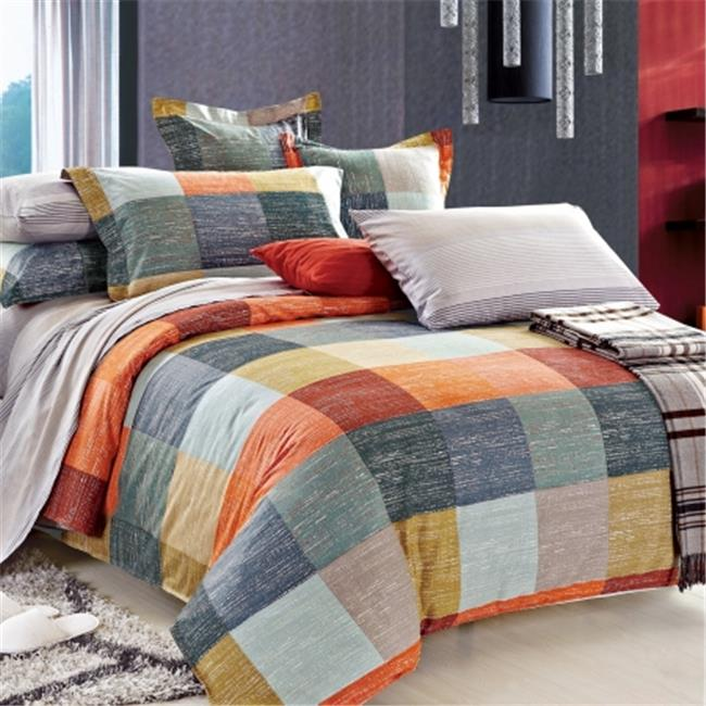 North Home NHSSQNPR0079 North Home Meridian 100 percent Cotton Sheet Set - Queen