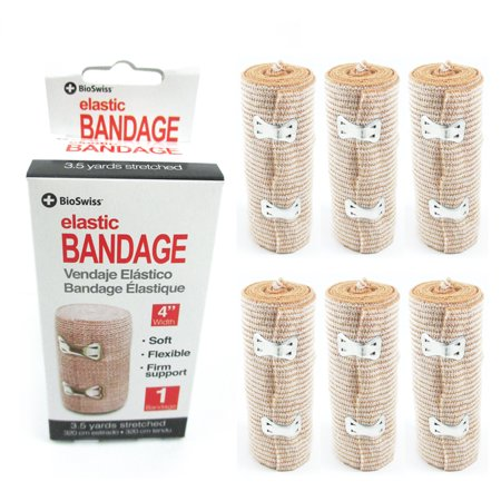 """6x Elastic Bandages 4"""" width Body Wrap Support Sports Foot Ankle Wrist First Aid"""