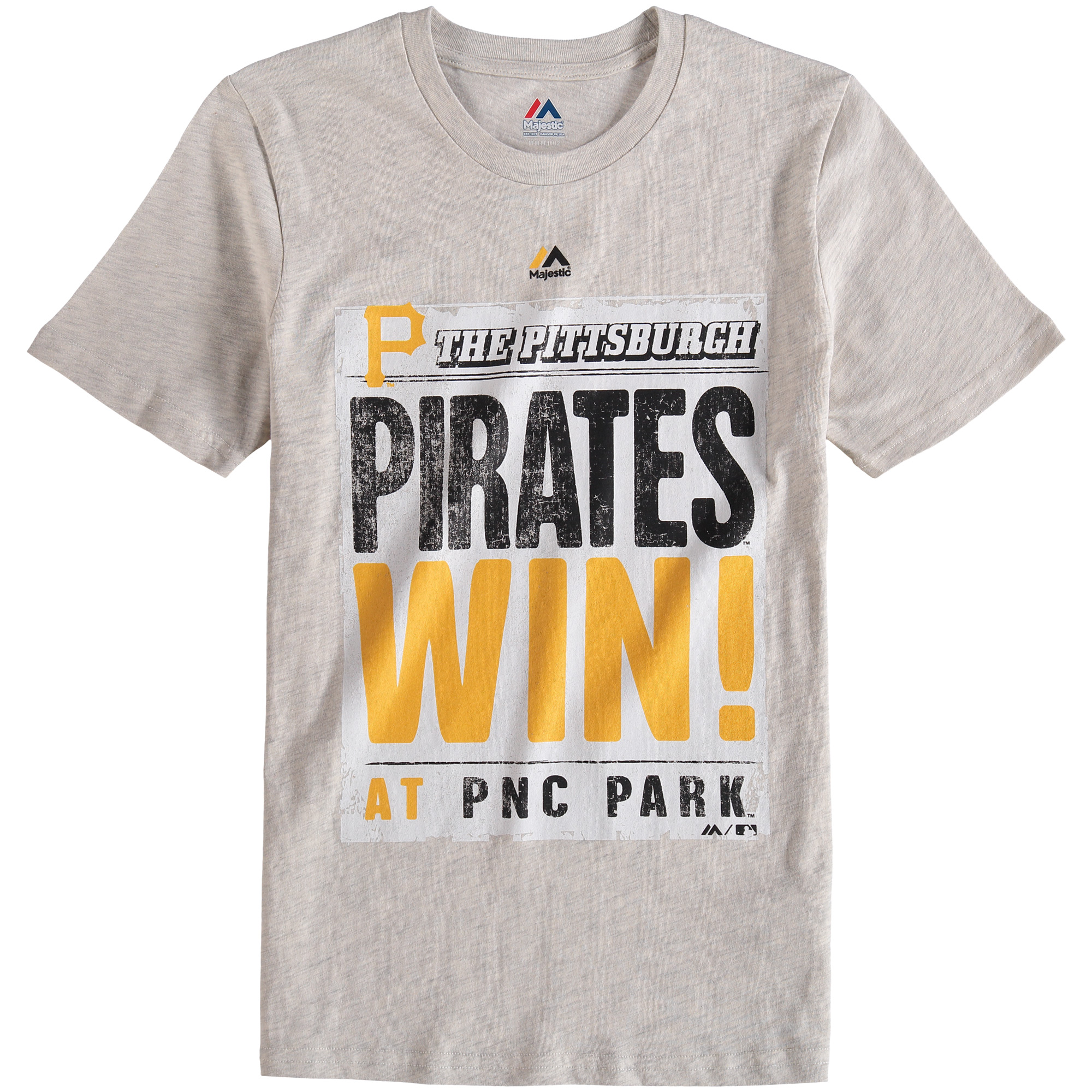 Pittsburgh Pirates Majestic Youth Front Page T-Shirt - Cream