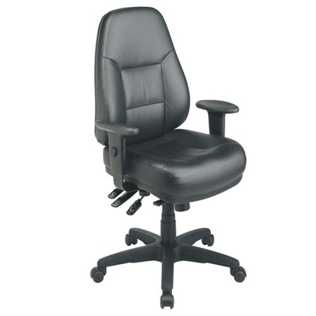 Office Star Products Deluxe High Back Leather Executive Chair