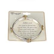 God So Loved The World That? John 3:16 Inspirational Religious Engraved Bracelet