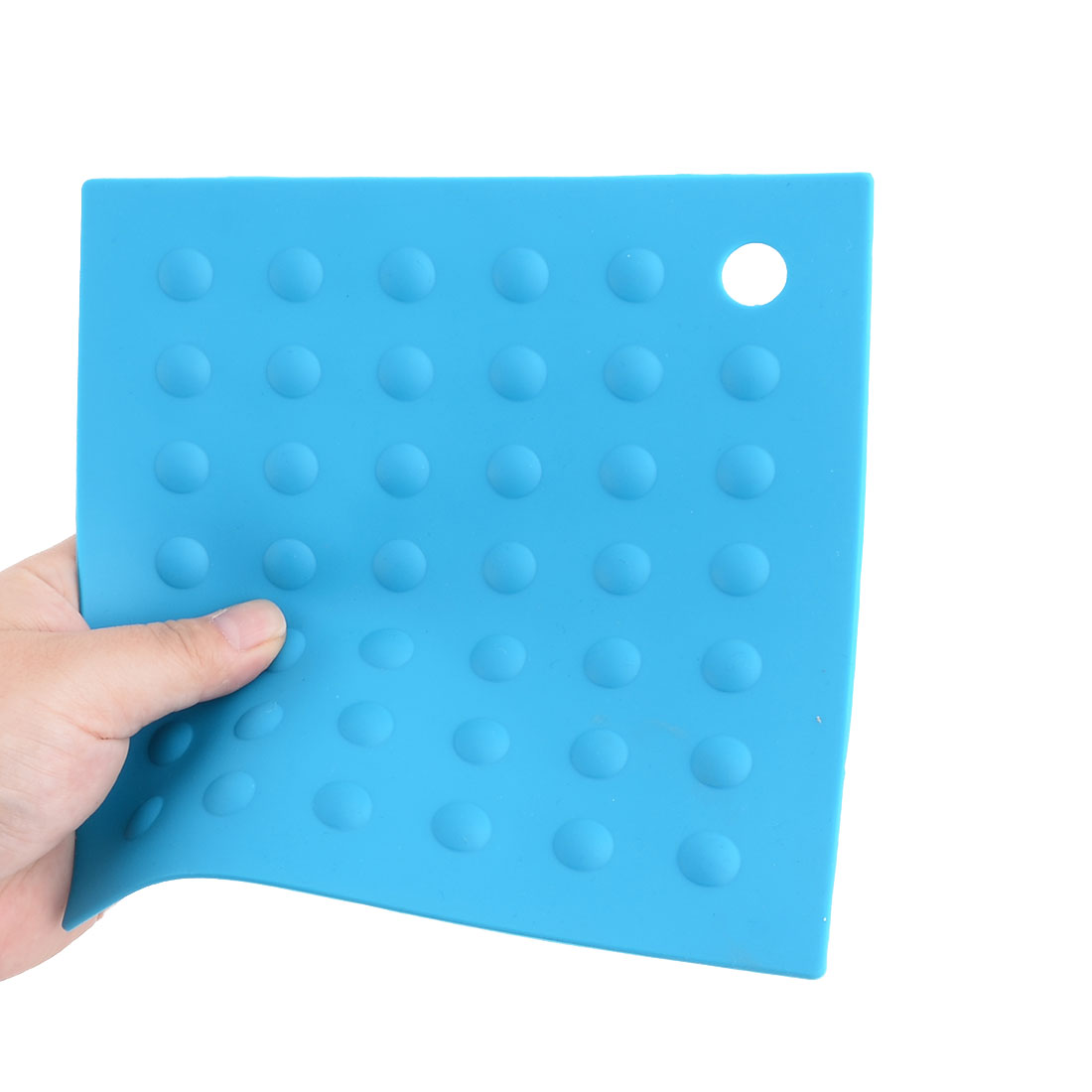 Silicone Square Heat Resistant Bowl Plate Mat Table Protection Pad Teal Blue - image 3 of 4