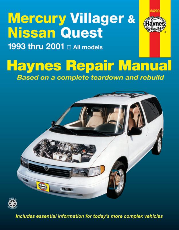 mercury villager & nissan quest (93-01) haynes repair manual - walmart.com  - walmart.com  walmart