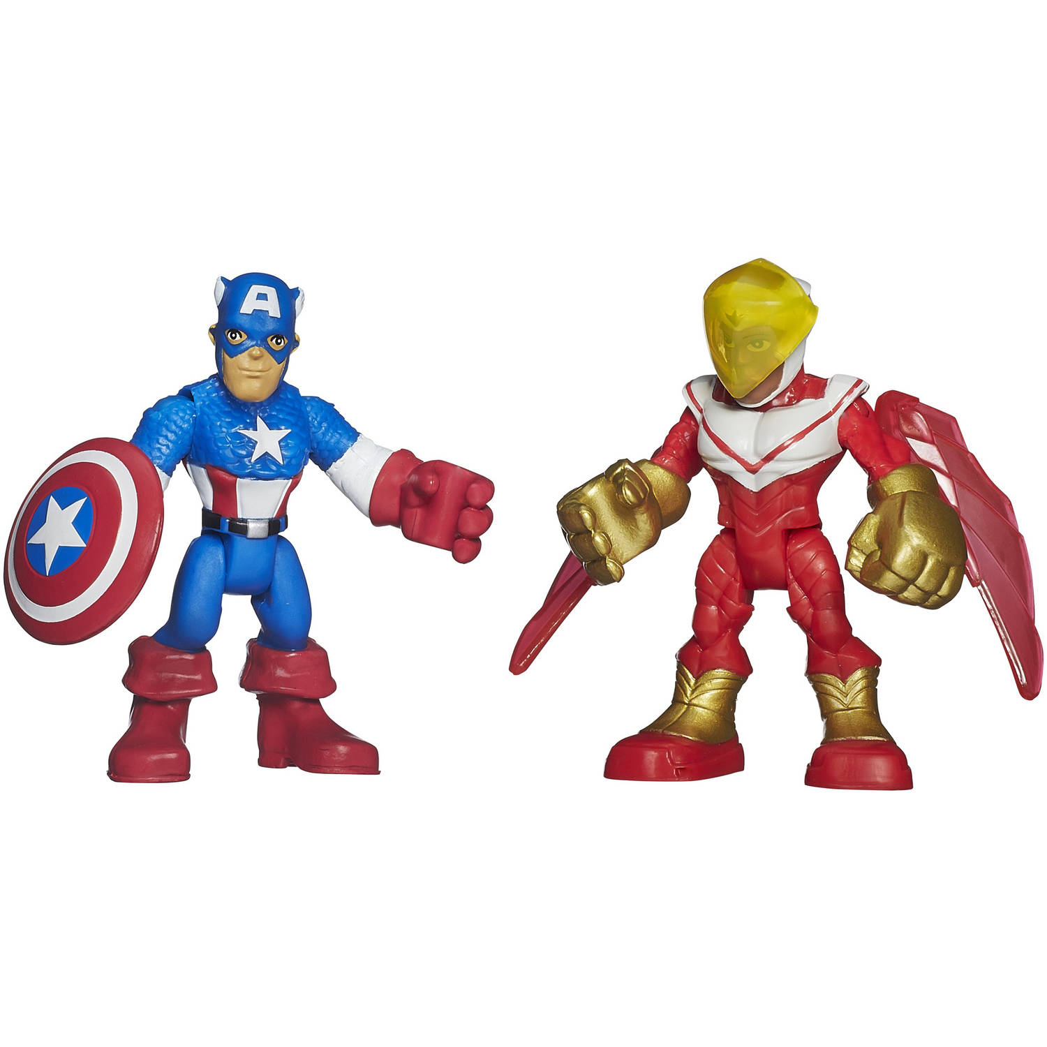 Playskool Heroes Marvel Super Hero Adventures Captain America and Marvel's Falcon Figures by SUPER HERO ADVENTURE