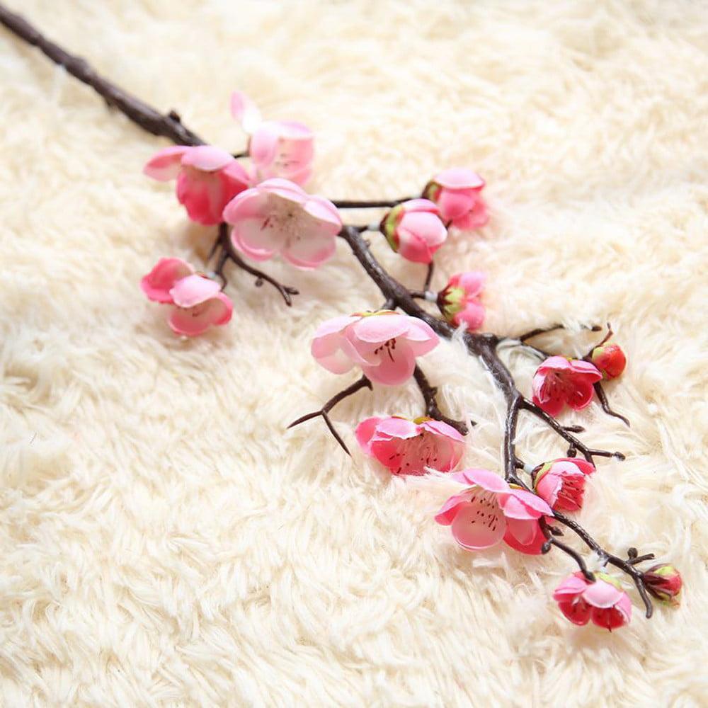 Artificial Silk Fake Flowers Plum Blossom Floral Wedding Bouquet Party Decor HOT