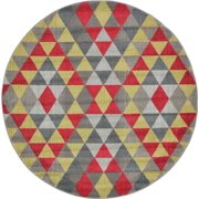 Contemporary Sierra Collection Area Rug in Prism and Rectangle, Round, Runner Shape