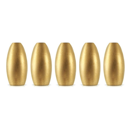 5pcs Brass Bullet Sinker Weight Fast Sinking for Rig Bass Fishing Accessory Lead (Best Lead Alloy For Bullets)