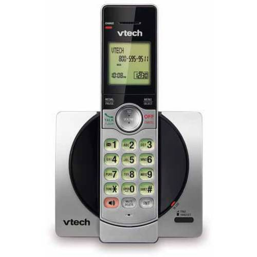 VTech CS6919 DECT 6.0 Expandable Cordless Phone with Caller ID and Handset Speakerphone, Silver/Black