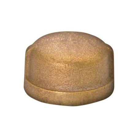 JMF 4506838 0.75 in. Red Brass Lead FreeThreaded Cap Compression - image 1 of 1
