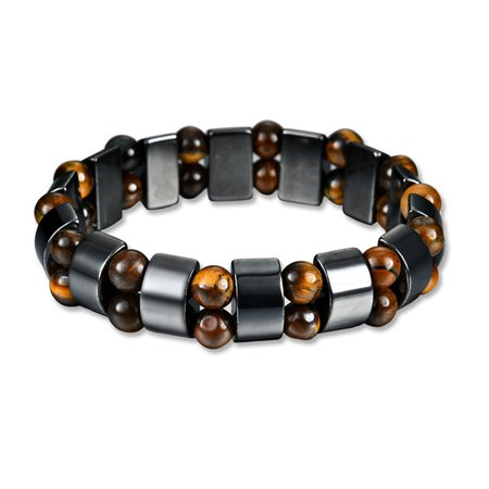 "Hematite Powerful Magnetic Bracelet Health Hand Chain for Women Men Arthritis Pain Relief or for Sports Related Therapy 55mm (2.2"") Diameter"