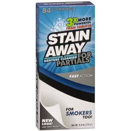 Stain Away for Partials Denture Cleanser, 8.4 OZ (Best Denture Cleaner For Stains)
