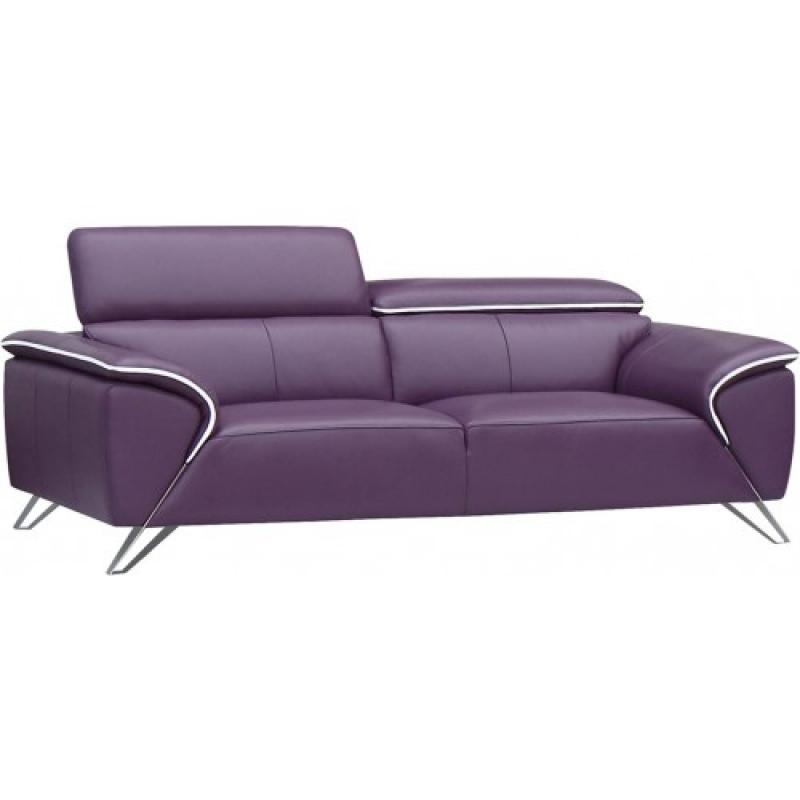 ESF 1513 Purple Italian Half Leather Sofa Craftsmanship Living Room Modern    Walmart.com