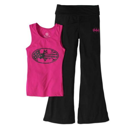 DC Comics Girls' Batgirl Tank Top Yoga Pants Sleep Set