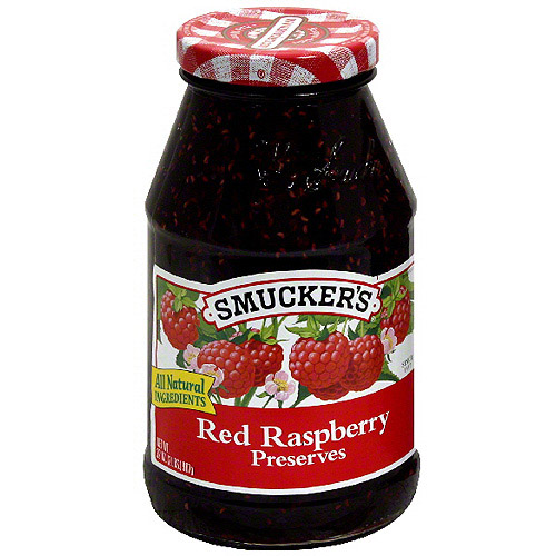 Smucker's Red Raspberry Preserves, 32 oz (Pack of 12)