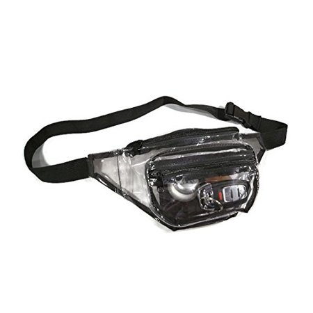 0dee433a0104 Clear Fanny Pack With Zipper Pockets and Waist Strap, Transparent Vinyl  Pouch, Great as Stadium Security Bag, Perfect for Men or Women