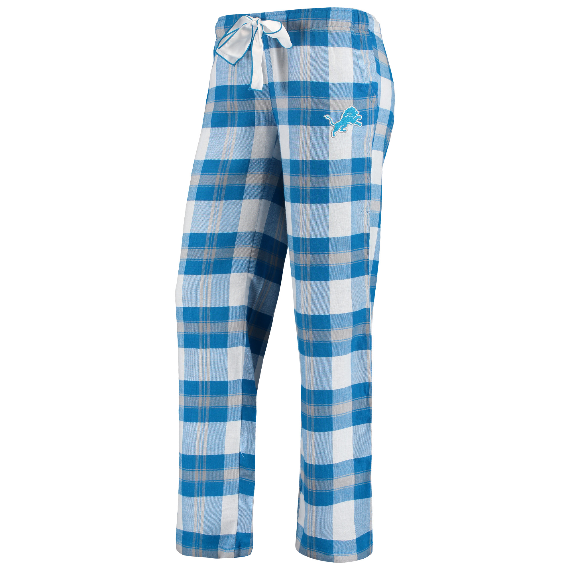 Detroit Lions Concepts Sport Women's Headway Plaid Pants - Blue