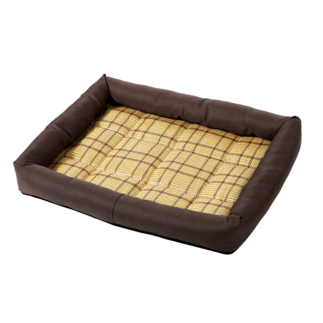 Unique Bargains Summer Cool Heat Resistant Bamboo Dog Cushion Pet Cat Sleeping Bed Mat M Coffee Color