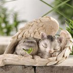 Gift Craft Polystone Cat in Wing Decor