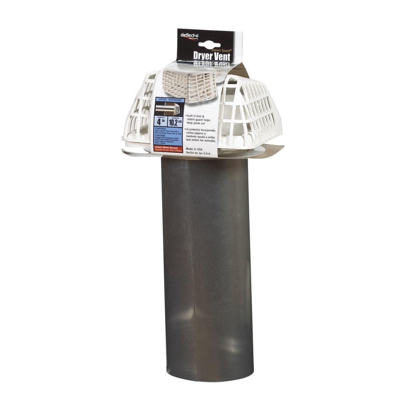 Deflect O Gvhxw4 Supurr Guard Dryer Vent Hood 4 Quot White