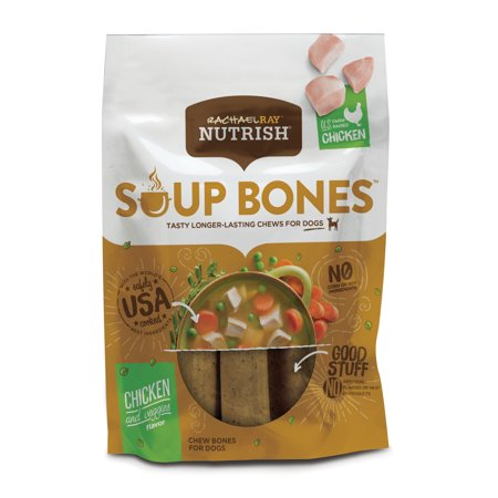 Rachael Ray Nutrish Soup Bones Dog Treats, Chicken & Veggies Flavor, 6