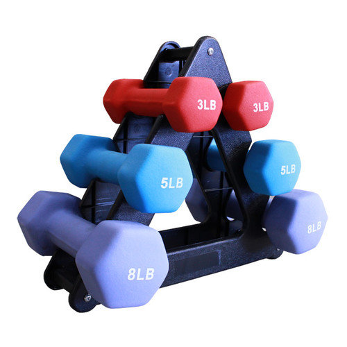 Amber Sporting Goods Neoprene 7 Piece Dumbbell Set