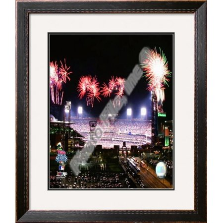 Citizens Bank Park Game (Citizens Bank Park Game 5 of the 2008 World Series Framed Photographic Print Wall Art)