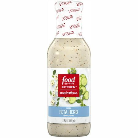 - (2 Pack) Food Network Kitchen Inspirations Greek Feta Herb Vinaigrette, 12 fl oz Bottle